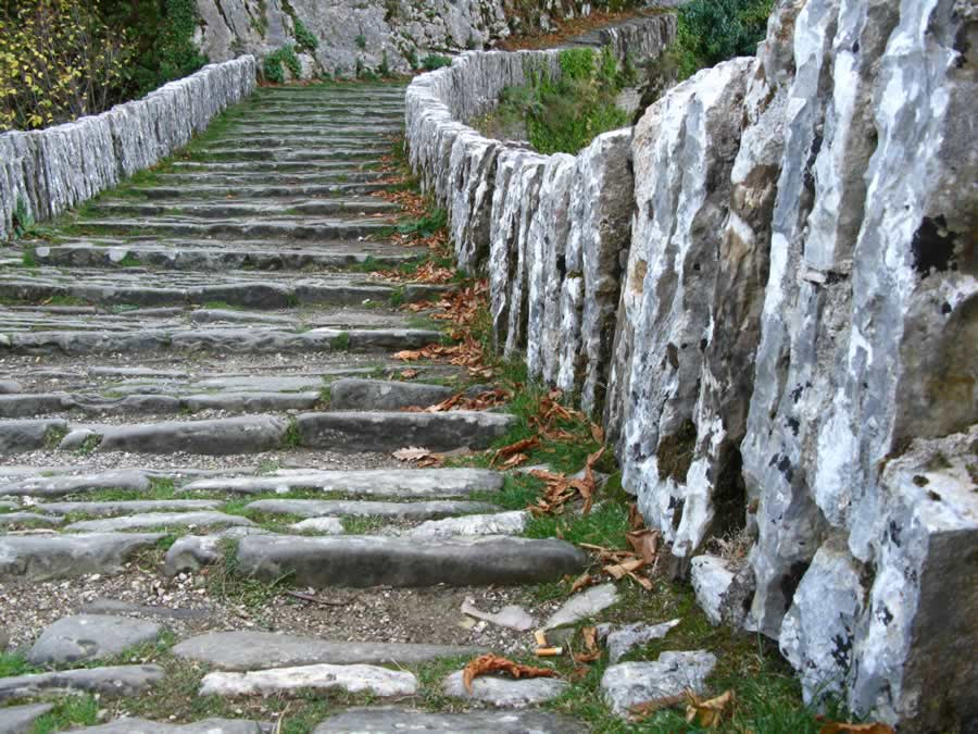 Stone made arch bridge in Zagori, Epirus